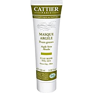 cattier masque argile verte menthe poivr e bio 100 ml beaut et parfum. Black Bedroom Furniture Sets. Home Design Ideas