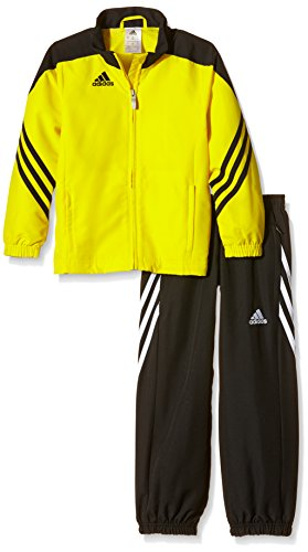 adidas Kinder Trainingsanzug Sereno 14,Top:Sun/Black/White Bottom:Black/White,140