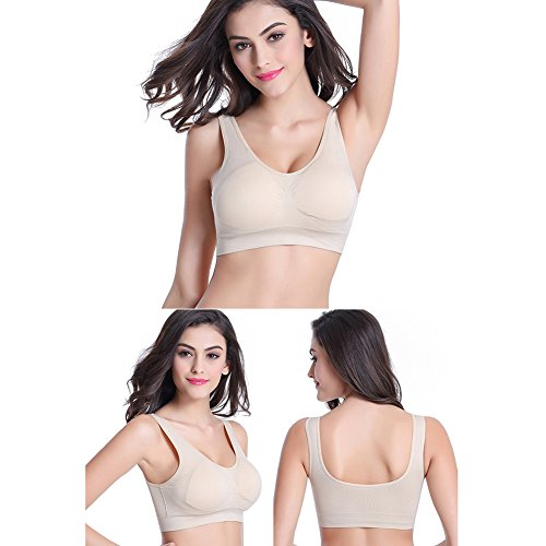 Happy Lily Damen Schwangerschafts- & Still-BH Gr. X-Large, DD, nude (Bra Strapless Strap Clear)