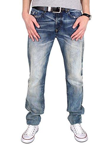 Diesel Buster 0845L 845L Herren Jeans Hose Regular Slim Straight Mittel Blau (W31 / L32) - Diesel Hose