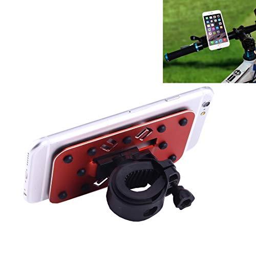 Xiaochou@sl Porte-vélos Rotatif pour téléphone Portable Multifonctionnel Universel à 360 degrés avec Petits ventouses sécurité (Couleur : Rouge)