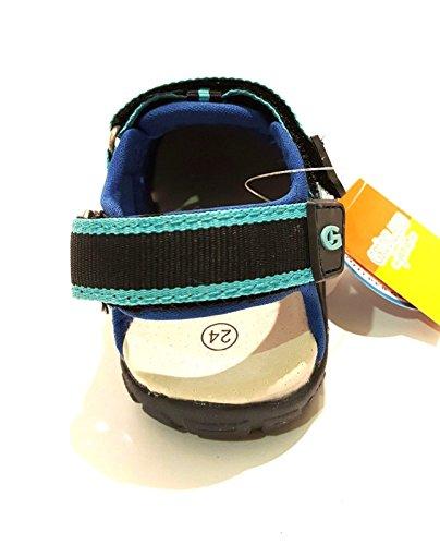GRÜNLAND TYPE SA0976 36/40 geschlossen grau Sandalen Dateien Babyschuhe Blau