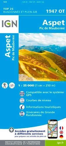 Aspet, Pic de Maubermé : 1/25 000