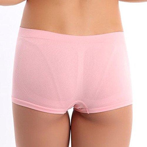 Ineternet Femmes Nylon Sport Ceinture D'entraînement Yoga Maigre Shorts Respirant Rose