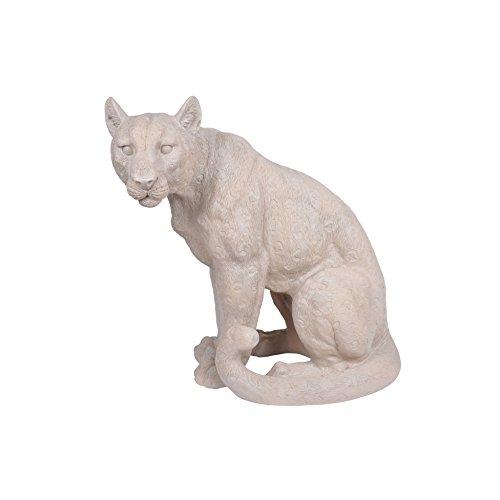 Homea Jardin 5dej1133bc Figura Decorativa D 'Animal Leopardo Resina 22,5x 40x 41cm