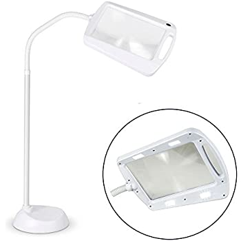 Daylight Led Hobby Craft Reading Floor Standing Magnifier Magnifying Light Lamp Amazon Co Uk