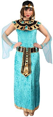 KARNEVALS-GIGANT Kleopatra Kostüm blau für Damen | Größe 40/42 | 1-teiliges Ägypterin Kostüm | Pharaonin Faschingskostüm für Frauen | Ägypten Kostüm für Karneval
