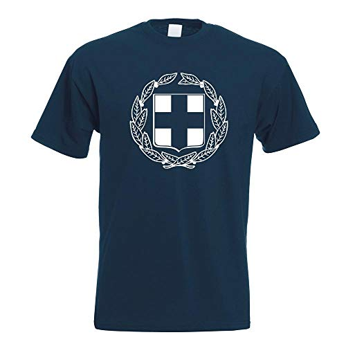 Kiwistar Griechenland Wappen T-Shirt Motiv Bedruckt Funshirt Design Print
