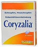Coryzalia - bremst natürlich Schnupfen bei Erkältung, Nebenhöhlenentzündung, allergisches Schnupfen, Heuschnupfen, homäopatisches Mittel, 40 Lutschtabletten, bis 4 Tabl. täglich
