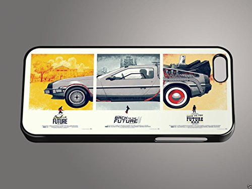 De regreso al futuro Trilogía DeLorean Retro Quirky para iPhone teléfono móvil, compatible con Apple iPhone 5S