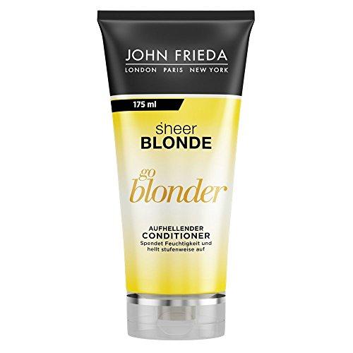 John Frieda Sheer Blonde Go Blonder - Aufhellender Conditioner/Spülung - Spendet Feuchtigkeit und hellt stufenweise auf - Inhalt: 175 ml -