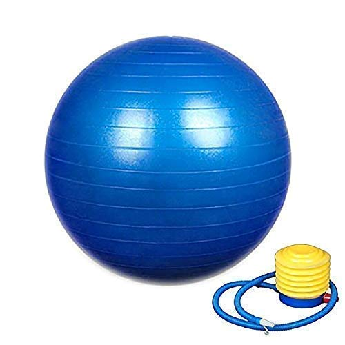 Weltime Exercise Heavy Duty Gym Ball Non-Slip Stability Ball Anti Burst Yoga Ball Balance Ball Extra Thick Fitness Ball for Home, Gym, Office with Quick Pump (Gym Ball 75cm with Pump)(Multicolor)