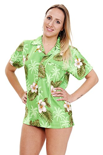 Funky Hawaiibluse, Small Flower, grün, (Tag Patricks Shirts Sexy St)