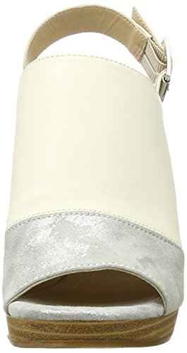 Peperosa 1502/1, Sandali con Tacco Donna Multicolore (Sasso/Offwhite)