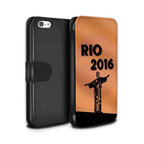 Stuff4 Coque/Etui/Housse Cuir PU Case/Cover pour Apple iPhone 5C / Pack 5pcs Design / Rio Olympique Collection Orange