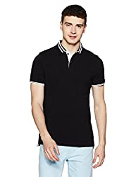 Indian Terrain Mens Solid Regular Fit T-Shirt (ITA17TSK315-8907633778257_Black_L)