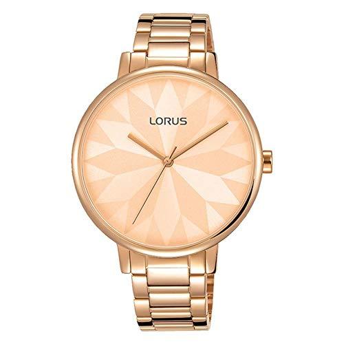 Lorus Femme 36mm Bracelet Acier Inoxydable Rose Quartz Montre RG294NX9