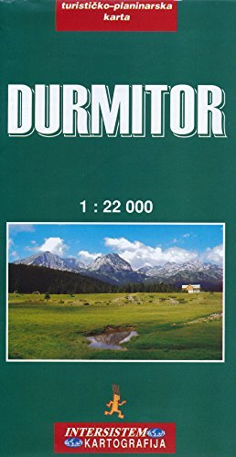 Durmitor (Montenegro) 1:22,000 Trekking Map by Intersistem (2012-12-10)