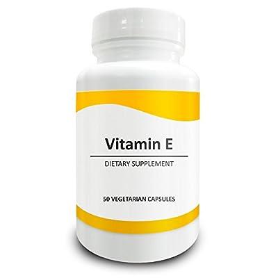 Pure Science Vitamin E (D-Alpha Tocopherol Succinate) 400 IU - Increases Antioxidant Level & Immunity, Balances Cholesterol Level, Promotes Healthy Skin & Hair - 50 Vegetarian Vitamin E Capsules by Pure Science