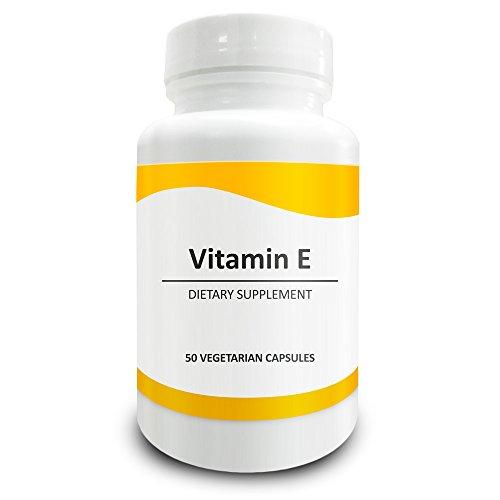 Pure Science Vitamin E (D-alpha-Tocopherolsuccinat) 400 I.E. - Erhöht die antioxidative und Immunität, Cholesterin, fördert eine gesunde Haut & Haar - 50 vegetarische Kapseln Vitamin E
