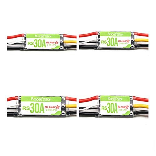 TechnQ 4X Racerstar RS30A 30A Blheli_S OPTO 2-4S ESC Support Oneshot42  Multishot for RC FPV Racing Drone