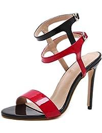 434b2a4804b7c L-XIE Femmes Sexy Des sandales Stylet Haute Talon Chaussures Dentelle  Piaulement Doigt de pied