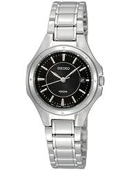 Seiko Damen-Armbanduhr XS Analog Quarz Edelstahl SXDE13