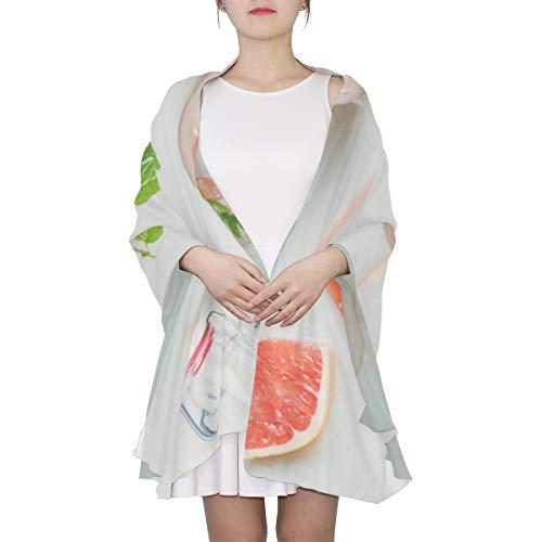 Reife rosa Trauben-Grapefruit einzigartige Mode Schal für Frauen leichte Mode Herbst Winter Print Schals Schal Wraps Geschenke für den Vorfrühling - Infundiert Alkohol
