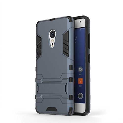 Bllosem Lenovo ZUK Z2 Pro Hülle Hybride Dual-Layer PC+TPU Kompletter Schutz Standfunktion Tasche für Lenovo ZUK Z2 Pro Schwarz Blau