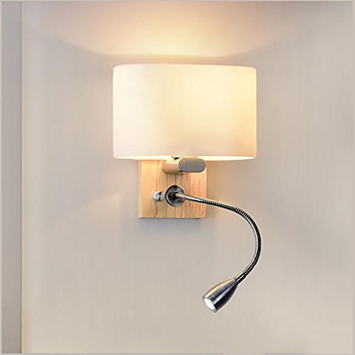 TOYM UK Moderne minimalistische kreative amerikanische Wohnzimmer Schlafzimmer Nachttisch Lampe Treppe Gang Holz Wand Lampe