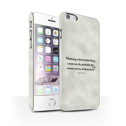 STUFF4 Matte Snap-On Hülle / Case für Apple iPhone 6S / Stephen Hawking Muster / Berühmte Zitate Kollektion Henry Ford