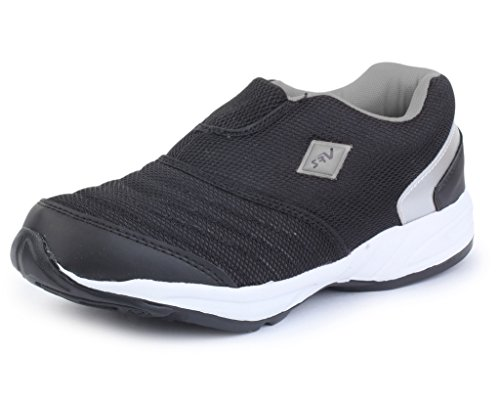 SRV Men's RaveX Black/Grey Sports Running Shoe-8 IND/UK