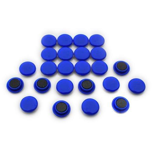 Magnet Expert® Petit planification/avis planche aimants, bleu, 1 pack de 24
