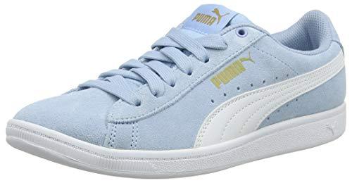 Puma Mädchen Vikky Jr Sneaker, Blau (Cerulean-Puma White-Metallic Gold 02), 38 EU - Basketball-schuhe Puma Kinder