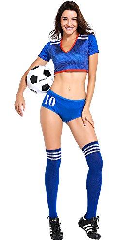 Welt Cup Nationalflagge Farbe Cheerleader Kostüm Fußball Baby Sexy Leistung Uniform mit Strümpfe - Japan (Japan National Kostüm Für Mädchen)