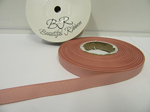 Beautiful Ribbon 2 mètres x Ruban de 10mm Gros-Grain Sombre Rose Clair Double Face Grosgrain nervuré 10 mm
