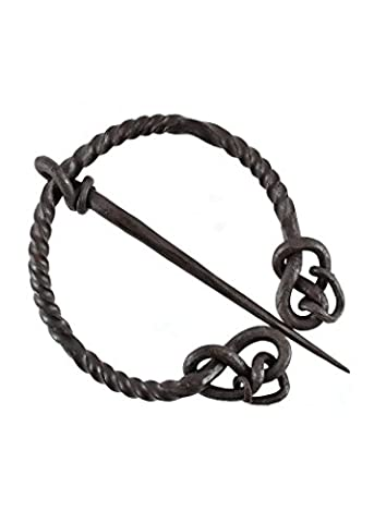 Tordiert Quad Rolled, Hand Forged, Mystical Brooch Brooch Viking Twist Ring Fibel LARP