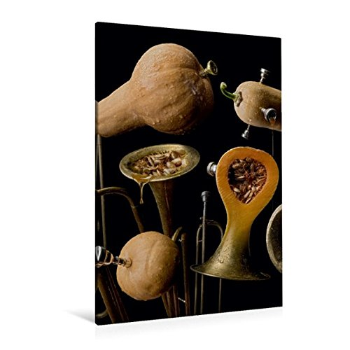 Premium Textil-Leinwand 80 cm x 120 cm  hoch, butternut trumpet | Wandbild, Bild auf Keilrahmen, Fertigbild auf echter Leinwand, Leinwanddruck (CALVENDO Lifestyle) (Butternut Wein)