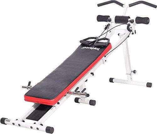SportPlus Power Gym, Seilzugtrainingsgerät, zusammenklappbar, Benutzergewicht bis 120 kg, SP-TG-001 Test