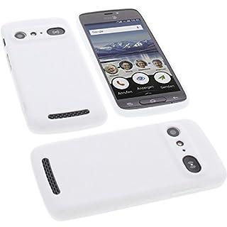 foto-kontor Étui pour Doro 8040 Housse pour Smartphone en Caoutchouc TPU Blanc
