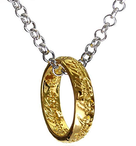 Inception Pro Infinite Collana con Anello - Il Signore degli Anelli - Colore Oro e Argento - Idea Regalo
