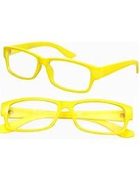 NERD® Brille Extra Schmal ,, Gelb,,