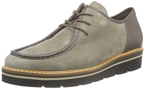 Gabor Shoes Fashion, Scarpe Stringate Basse Oxford Donna Grigio (Wallaby/vulcano 13)