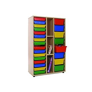 Mobeduc 600313HP17 Shelving Storage and 2 Bays with Trays, 90 x 147 x 40 cm, Yellow (B073469FYC) | Amazon price tracker / tracking, Amazon price history charts, Amazon price watches, Amazon price drop alerts
