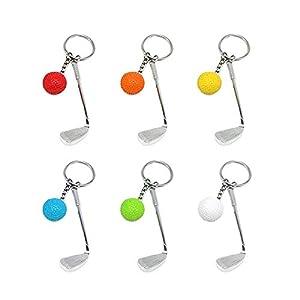 Creatiees Mini Golf Schlüsselanhänger mit Golfschläger Schlüsselring und...