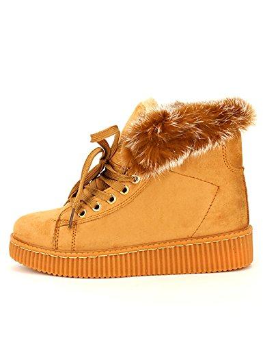 Cendriyon, Basket Boots Fourrée CINK MO Chaussures Femme