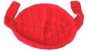 Réf734 BB.212 - Hamac Rouge Pour Séance Photos de Naissance Photographe Bébé - Crochet Fait Main - Cadeaux Props Photos de Naissance