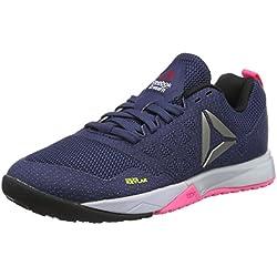 Reebok Crossfit Nano 6.0, Zapatillas Deportivas para Interior para Mujer, Azul (Blue Ink/Lucid Lilac/Poison Pink/Black/Pewter), 40 EU