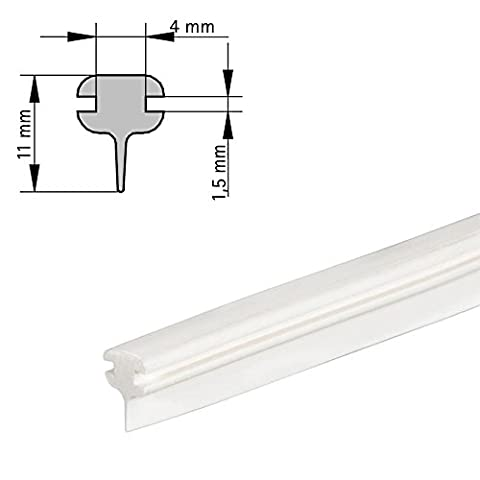 DUSAR 2-1Lip Seal for Folding Bath Screens 1200mm Silicone Water