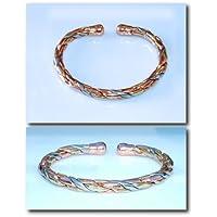 Magnetischer 3 farbe Messing/Kupfer/Aluminium 'Seil' design armband 36ML - Mit preisvergleich bei billige-tabletten.eu